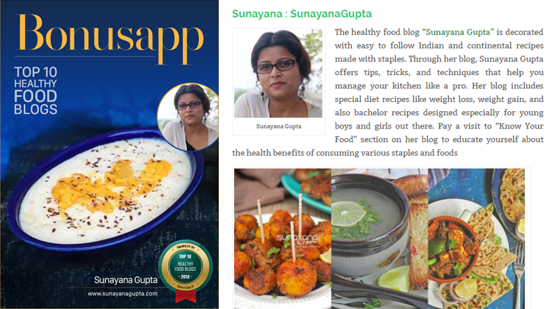 Awarded among top 10 healthy food blogs india 2018 sunayanagupta sunayanagupta is listed in top 10 healthy food blogs india 2018 forumfinder Gallery
