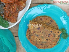 Ragi Palak Wheat & Dal Thepla Recipe