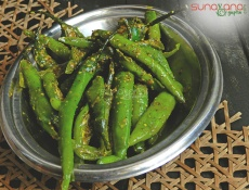 Rajasthani Green Chilly Pickle Recipe