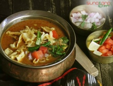 Tomato Gathiya Nu Shaak Recipe