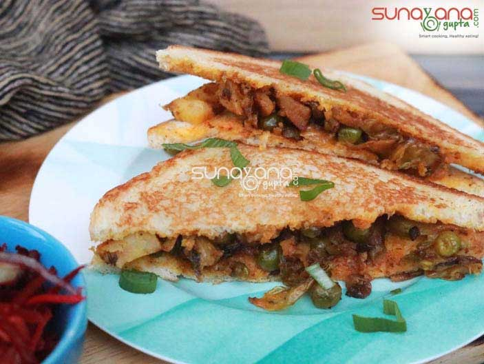 Cabbage Peas Sandwich Recipe