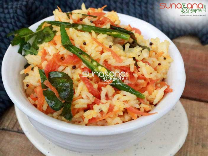 Carrot Rice Or Carrot Sadam