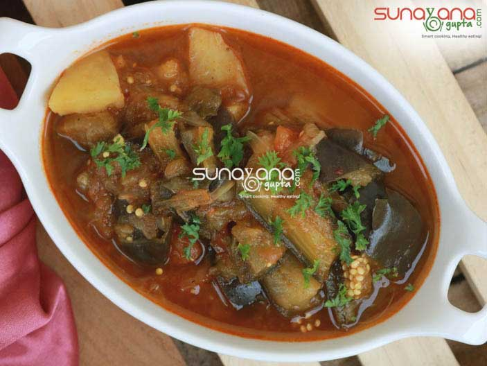 Spicy Eggplant And Potato Stew Recipe