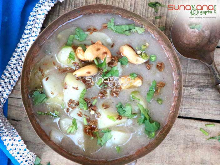 Vrat Wale Aloo Ki Rasedar Sabzi Recipe